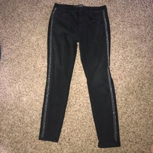 Mossimo high rise jegging 10 R -black with silver